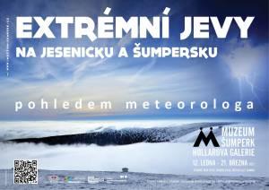 Výstava Extrémní jevy na Jesenicku a Šumpersku pohledem meteorologa ve VMŠ