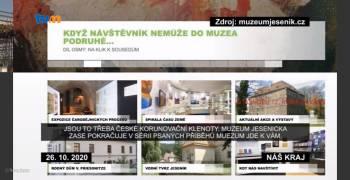 TV Morava odvysílala reportáž o aktivitách muzejních institucí v Olomouckém kraji v době nouzového stavu