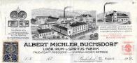 1.Firemní hlavičkový papír likérky Alberta Michlera (zdroj SOkA Jeseník).